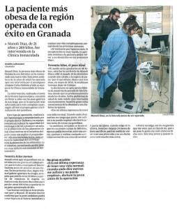 Manoli Díaz operada de obesidad